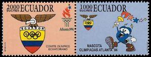 "ECUADOR 1402a - Atlanta Summer Olympic Games ""Se-tenant Pair"" (pf31074)"