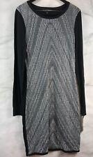 NWT MOSSIMO Women's Black and Gray Long Sleeve Sweat Dress Light Weight Sz M