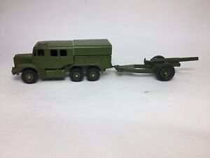 Dinky 689 Army Artillery Tractor/693 7.2 Howitzer (repaint)