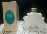 Vintage Avon Royal Stage Coach moonwind foaming bath oil empty bottle with box