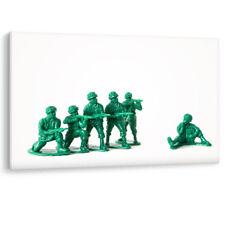 Soldados de juguete historia Ejército Verde Lienzo Enmarcado acción niños pared arte Foto impresión