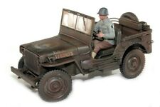 JEEP WILLYS US ARMY 1/4 TON MILITARY DIRTY VERSION WITH FIGURE 1/18 WELLY 18036A