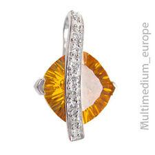 Modernist Zirkonia Silber Anhänger Halskette zirconia silver pendant 🌺🌺🌺🌺🌺