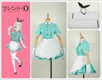 Blend・S Kanzaki Hideri MaidServant Ladies Dress Cosplay Costume with Headwear