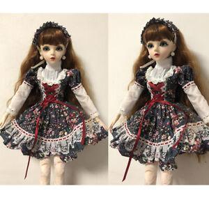 Full Set Handpainted 1/3 BJD Doll Free Face Make up + Dress Wig Shoes Eyes Girl