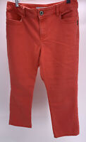 Chico's Platinum Denim Salmon Capri Jeans Size 1