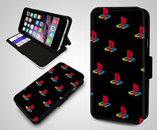 Playstation PS4 Logo Game Console Gamer Flip Wallet Leather Phone Case Cover
