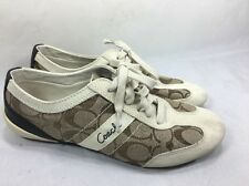 """COACH """"Baylee"""" Signature """"C"""" Sneakers /Casual Shoes women's size8 M fabric/suede"""