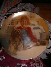 Knowles Plate Number 1165P Limited Edition Annie and Sandy collector plate 1982