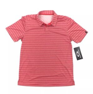NEW Oakley Top Stripe Short Sleeve Polo Shirt Top Red Mens Size Large L NWT