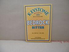 Keystone Bedrock Bitter Ale Beer Pump Clip face Pub Bar Collectible 47