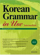 Korean Grammar in Use Intermediate Study Korea Text Book+MP3 CD English Version