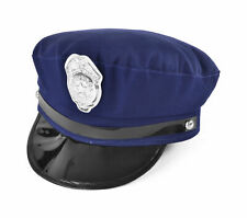 New York Cop Hat American NYC Police Blue Chief Fancy Dress Costume