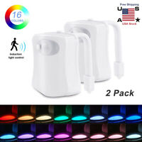 Toilet Night Light Motion Activated Multi-Color LED Sensor Bowl Seat Glow Lamps