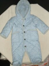 Ralph Lauren Polo Lt. Blue Poly Baby Quilted One Piece Snowsuit Jacket Sz. 3M