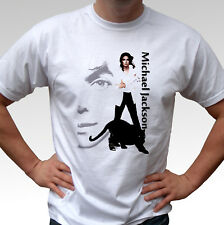 Michael Jackson black panther white t shirt top - mens and kids sizes