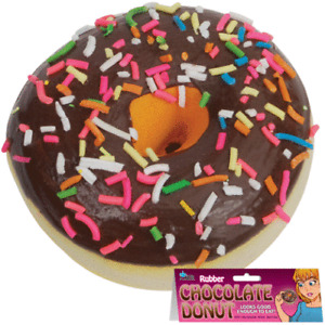 Fake Chocolate Donut - Deluxe Rubber Chocolate Donut - Looks Good Enough To Eat!