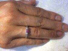Vintage 18ct Yellow Gold & Platinum Diamond & Ruby Ring