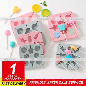 Cake Jelly Cookies Lolipop Silicone Chocolate Baking Mould Tray Ice Pop Candy