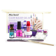 Mia Secret Clear Builder Gel Kit Primer Builder Glue Top Coat Tips Brush File