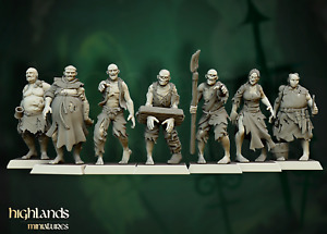 Zombies x13, Highlands Miniatures, Undead, Vampire, Nagash, Aos, WFB