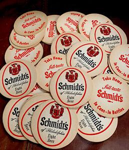 Vintage Schmidt's Philadelphia Double Sided Cardboard Beer Coasters Lot of 40