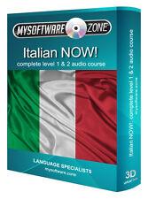SCOPRI + parlare italiano adesso! COMPLETA di livello 1 2 Audio lingua corso MP3 CD REGALO