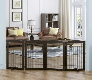Freestanding Wire Pet Gate for Dogs, 30 inches Tall Dog Gate for The Houes