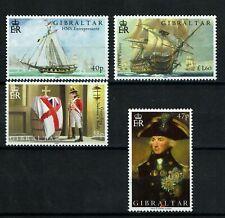 Gibraltar 2005 Trafalgar Nelson Tribute Battle War Ship Unique Textured stamp