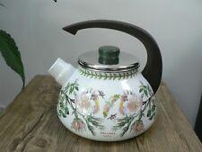 More details for kettle stove top 1970's floral retro vintage enamel portmeirion botanic garden