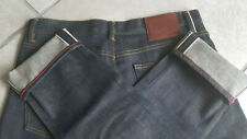 Gustin Jeans #107 (The Zimbabwe) Raw Selvedge Blue Denim Jeans Size 34 Skinny