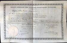 """DIPLOME """"ÉCOLE SPÉCIALE DES LANGUES ORIENTALES VIVANTES  """" 1903"""