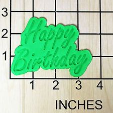 Happy Birthday Fondant Cookie Cutter and Stamp #1652