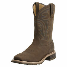 """Ariat 10014067 Hybrid Rancher H2O 11"""" Pull On Square Toe Wellington Work Boots"""