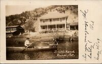 Basalt CO~Do You Recognize the Lady in the Rowboat?~Reudi Smith Ranch~RPPC 1909