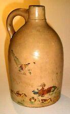 Vintage Antique Crock Unmarked Stoneware Lamp Conversion