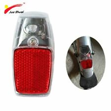 Leds Battery Fender Bike Light Mount on the Mudguard Red Plastic Safe Warning