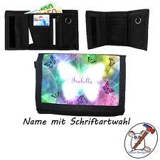 Schmetterling Geldbörse mit Name, Geldbeutel, Klettverschluß Name+Schriftartwahl