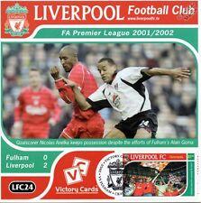 Liverpool 2001-02 Fulham (Nicolas Anelka) Football Stamp Victory Card #124
