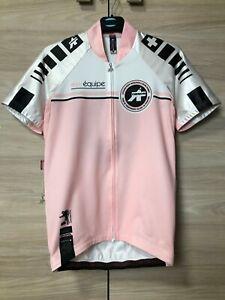 Assos Equipe Nikopol Women's Ladies Pink Cycling Bike Jersey Shirt size S