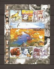 Large Souvenir Sheet _  Fauna of Tundra _ Animals _ MNH