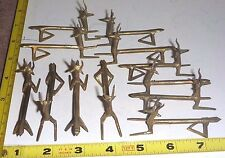 Set of 12 Antique French Hand-Crafted METAL KNIFE RESTS - REINDEER  Very NICE !!