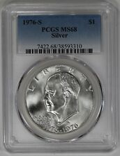 1976 S EISENHOWER IKE DOLLAR $1 PCGS CERTIFIED MS 68 MINT STATE SILVER (310)