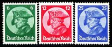 Germany Scott's 398 -400 MI 479 -481 Frederick the Great MNH-25pf is Expertized