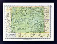 c 1925 Encyclopedia Britannica Map - Wyoming Cheyene Casper Yellowstone Park