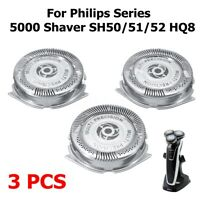 3 pcs Replacement Shaver Head For Philips Series 5000 Shaver SH50/51/52   Q