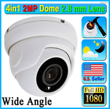 HD 2MP 1080P 4in1 Security Camera Wide 2.8mm Lens Dome CCTV Outdoor TVI AHD ETC
