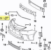 Front Bumper Support Bracket for 2012-2017 Toyota Prius V Driver + Passenger Set