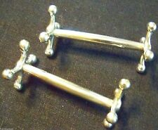 SET OF TWO FINE VICTORIAN STYLE SILVER KNIFE RESTS  -  VIEW OUR FineThings4sale