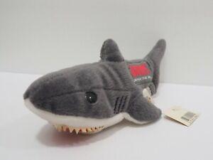 "Jaws Shark Universal Studio Japan 7"" Beanie Plush Stuffed Toy Doll Japan"